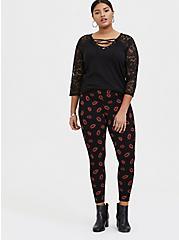 Premium Legging - Lips Red & Black, MULTI, alternate