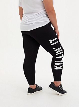 Premium Legging - 'Killin It' Metallic Silver & Black, MULTI, alternate
