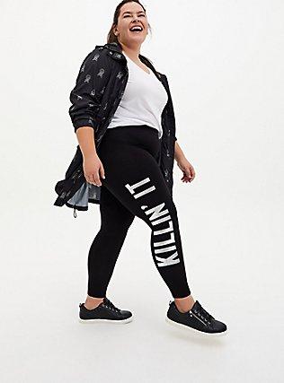 Premium Legging - 'Killin It' Metallic Silver & Black, MULTI, hi-res