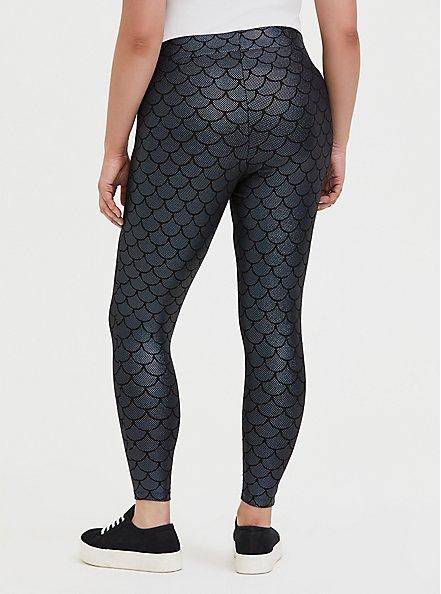 Premium Legging - Mermaid Scale Iridescent Black, MULTI, alternate