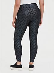 Plus Size Premium Legging - Mermaid Scale Iridescent Black, MULTI, alternate