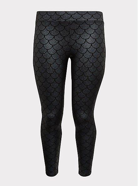 Premium Legging - Mermaid Scale Iridescent Black, MULTI, hi-res
