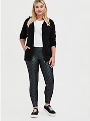 Plus Size Premium Legging - Mermaid Scale Iridescent Black, MULTI, hi-res