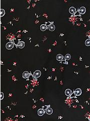 Black Crepe Floral & Bike Bomber Jacket, FLORAL, alternate