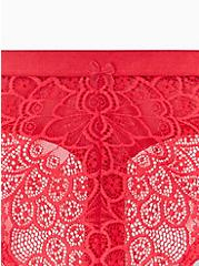 Red Lace Thong Panty , TANGO RED, alternate