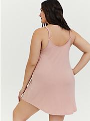Self-Care Blush Pink Sleep Tunic Cami, PINK, alternate