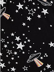 Black Space Lace Inset Babydoll, MULTI, alternate