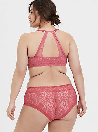 Rose Pink Lacey Cheeky Panty, BAROQUE ROSE, alternate