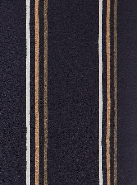 Dark Slate Grey Multi Stripe Crepe Self Tie Tapered Pant, STRIPES, alternate