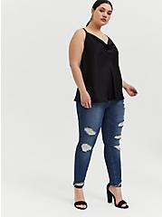 Jegging - Premium Stretch Medium Wash with Deconstructed Hem, BRIGHTON, alternate