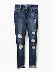 Jegging - Premium Stretch Medium Wash with Deconstructed Hem, BRIGHTON, hi-res