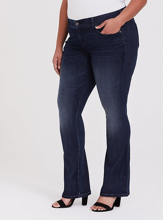 Slim Boot Jean - Super Soft Dark Wash, , hi-res