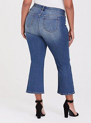 Crop Flare Jean - Vintage Stretch Medium Wash, BACKSEAT BINGO, alternate
