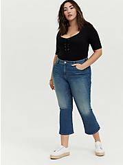 Crop Flare Jean - Vintage Stretch Medium Wash, BACKSEAT BINGO, alternate