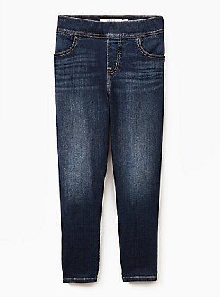 Crop Lean Jean- Super Stretch Medium Wash, MANCHESTER, flat