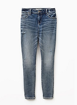 Mid Rise Skinny Jean- Vintage Stretch Light Wash, ILLUSION, flat