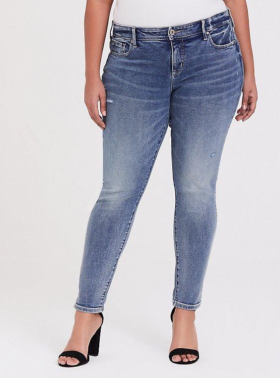 Mid Rise Skinny Jean- Vintage Stretch Light Wash, , hi-res
