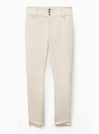 Jegging- Vintage Stretch White with Step Hem, FRENCH VANILLA, flat