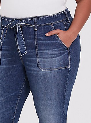 Mid Rise Straight Jean - Vintage Stretch Medium Wash with Sash, SHELBY 68, alternate