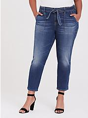 Mid Rise Straight Jean - Vintage Stretch Medium Wash with Sash, SHELBY 68, hi-res