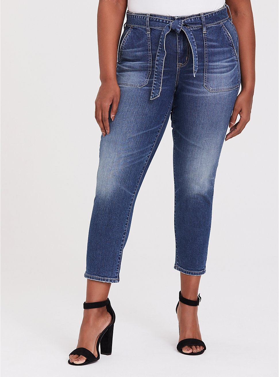 Mid Rise Straight Jean - Vintage Stretch Medium Wash with Sash, , fitModel1-hires