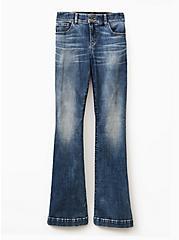 Flare Jean - Super Soft Medium Wash, BLUE PLANET, hi-res