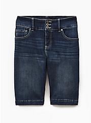 Jegging Bermuda Short - Premium Stretch Dark Wash, CARDIFF, hi-res