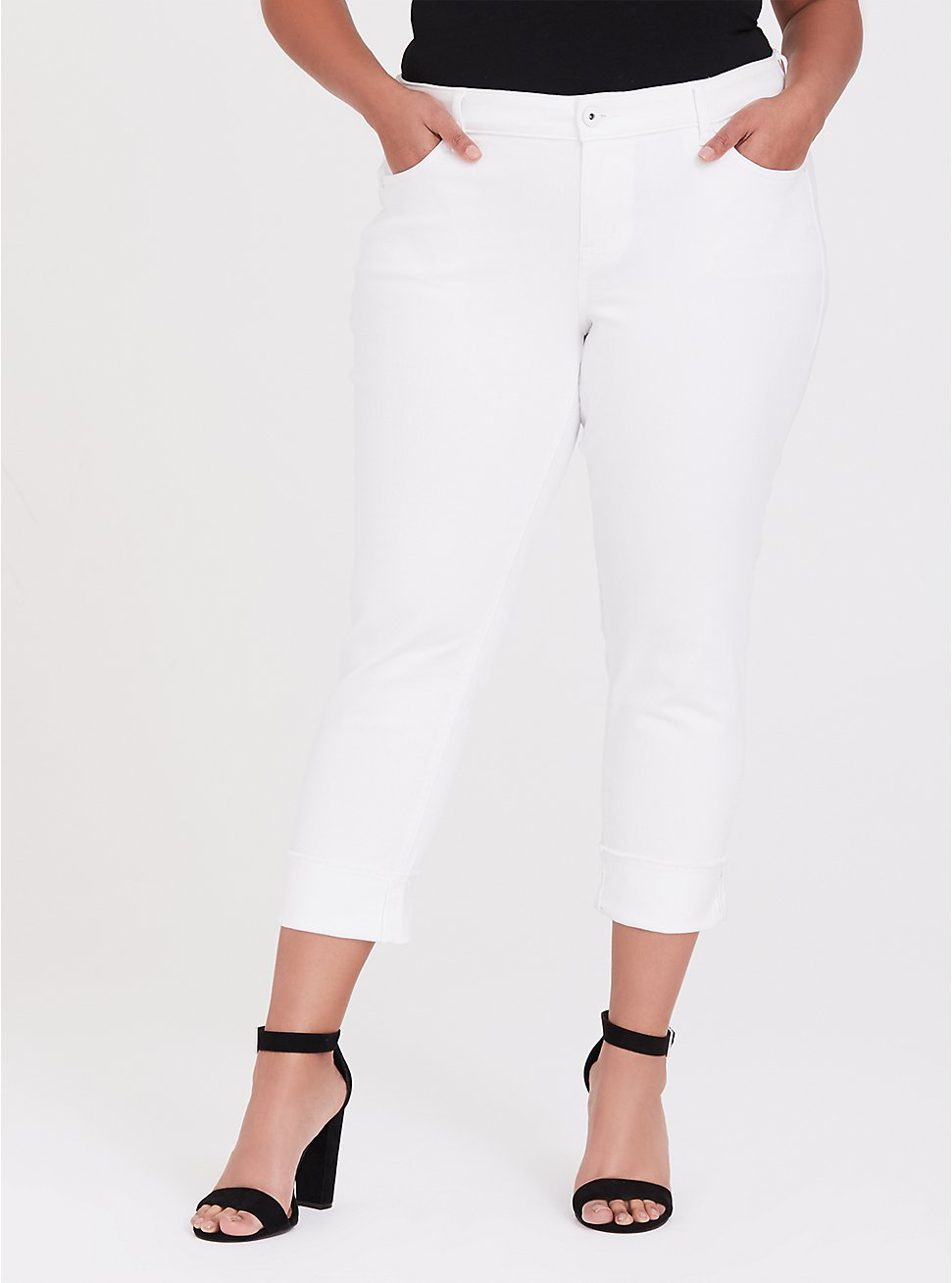 Plus Size Crop Boyfriend Jean - Vintage Stretch White, OPTIC WHITE, hi-res
