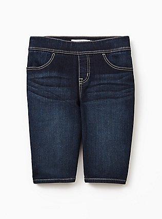 Plus Size Lean Jean Bermuda Short - Vintage Stretch Dark Wash, CANARY WHARF, flat