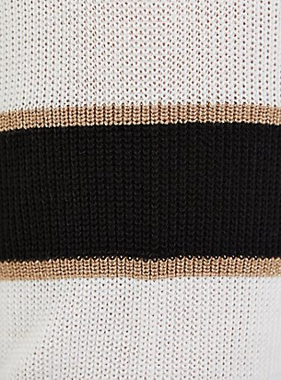 Plus Size Multi Shimmer Stripe Rib Open Front Cardigan, STRIPE - MULTICOLOR, alternate
