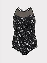 Harry Potter Spell Black Wireless One-Piece Swimsuit, MULTI, hi-res