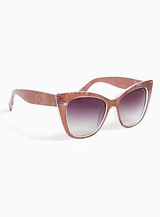 Rose Pink Cat Eye Sunglasses, , alternate