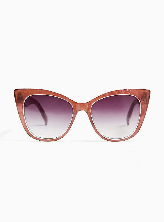 Rose Pink Cat Eye Sunglasses, , hi-res
