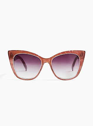 Rose Pink Cat Eye Sunglasses, , hi-res
