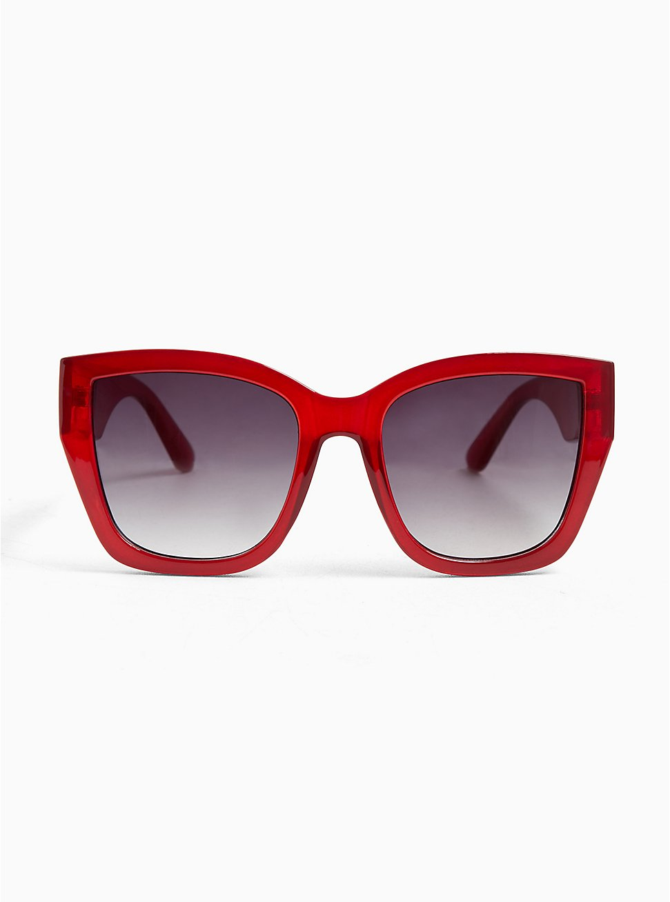 Red Oversized Square Sunglasses, , hi-res