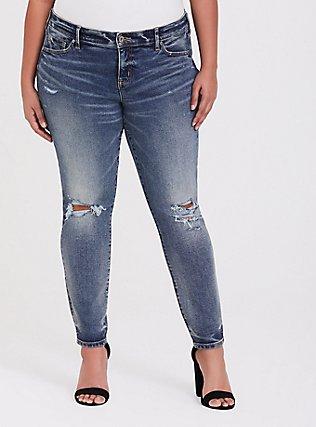 Mid Rise Skinny Jean- Vintage Stretch Dark Wash, CATCH MY DRIFT, hi-res