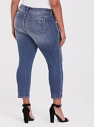 Plus Size Mid Rise Straight Jean - Vintage Stretch Medium Wash, DURANGO, alternate