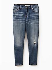 Mid Rise Straight Jean - Vintage Stretch Medium Wash, DURANGO, hi-res