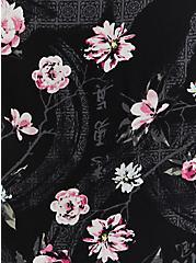 Disney Mulan Black Floral Surplice Maxi Dress, BLACK FLORAL, alternate