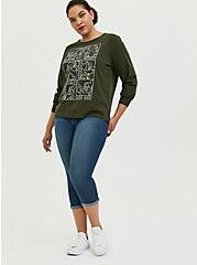 Plus Size Disney Snow White and the Seven Dwarfs Olive Green Sweatshirt, DEEP DEPTHS, alternate