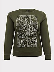 Plus Size Disney Snow White and the Seven Dwarfs Olive Green Sweatshirt, DEEP DEPTHS, hi-res