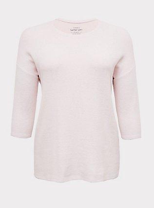 Super Soft Plush Lilac Pink Dolman Top , LILAC SNOW, flat