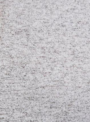 Super Soft Plush Light Grey Turtleneck Long Sleeve Top, HEATHER GREY, alternate