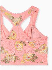 Coral Floral Unlined Reacerback Bralette, SUMMER BLOOM, alternate