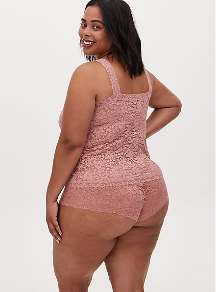 Dusty Pink Lace Brami Bralette, ASH ROSE, alternate