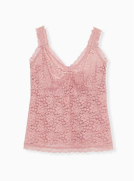 Dusty Pink Lace Brami Bralette, ASH ROSE, hi-res