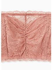 Dusty Pink Lace Lightly Padded Bandeau, ASH ROSE, alternate