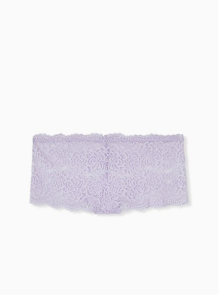 Plus Size Lilac Purple Lace Cheeky Panty , CLOUDED OPAL LAVENDER, alternate