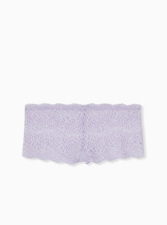 Plus Size Lilac Purple Lace Cheeky Panty , , hi-res
