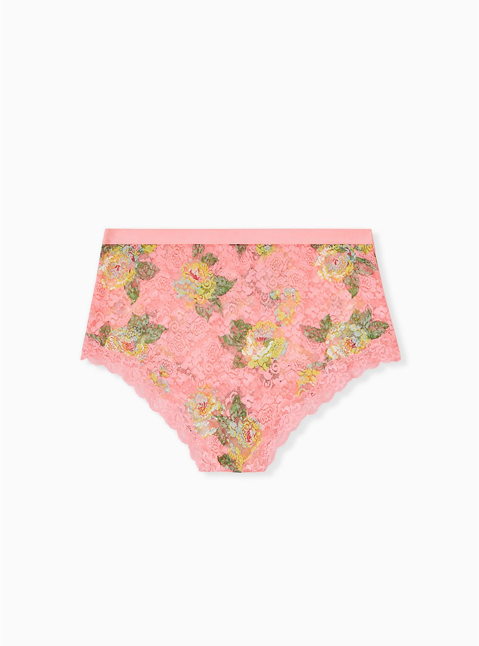 Coral Floral Lace High Waist Panty , SUMMER BLOOM, hi-res